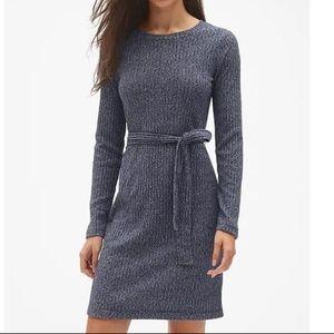 NWT Gap Softspun Ribbed Dress LP Navy Marl v367